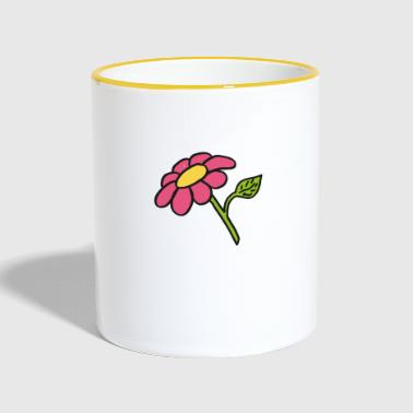 Clipart flower, gift idea - Contrasting Mug