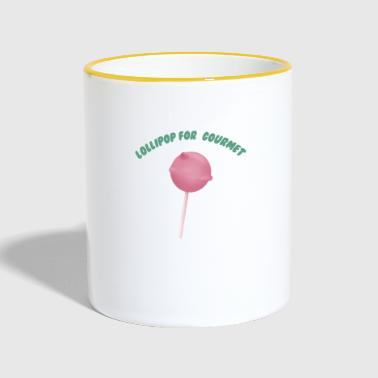 Lollipop for Gourmet - Tasse zweifarbig