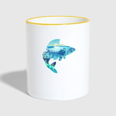 Perch bass bass - Contrasting Mug
