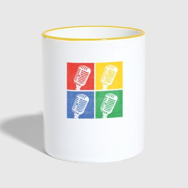Music pop art - Contrasting Mug