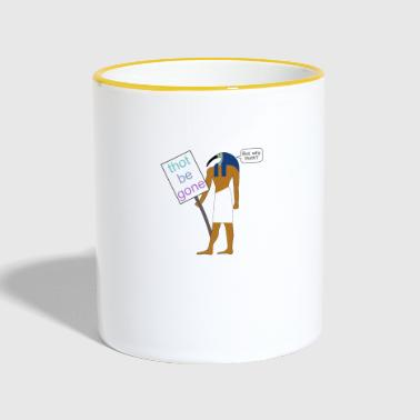 Thoth at a demo - Contrasting Mug