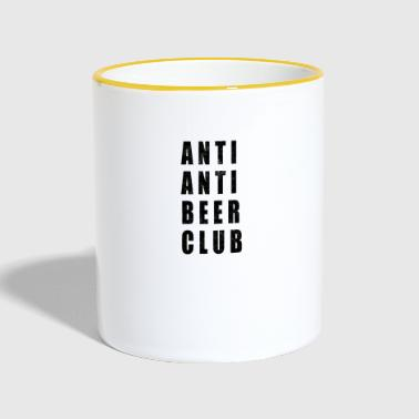 Anti Anti Beer Club - Tasse zweifarbig