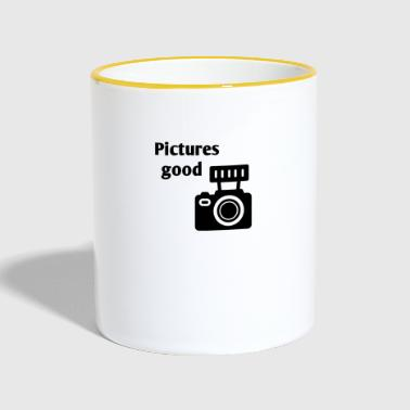 Pictures good - Tasse zweifarbig
