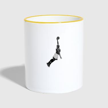 Dunking design created for Basketball fans - Tasse zweifarbig