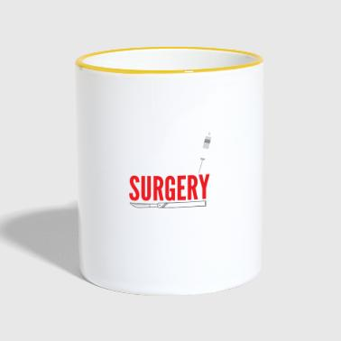 just out of surgery - Contrasting Mug