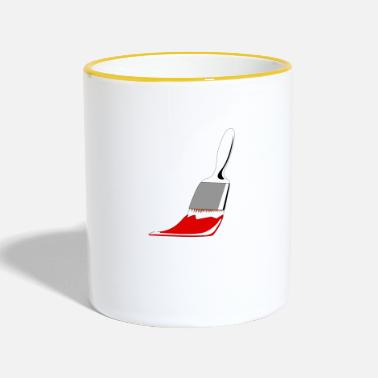 Idea Brush gift idea idea idea - Two-Tone Mug