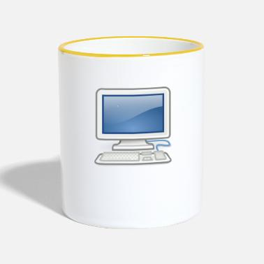 Pc great for PC nerds or PC in love - Contrasting Mug