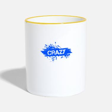 Crazy crazy splash color gift - Two-Tone Mug
