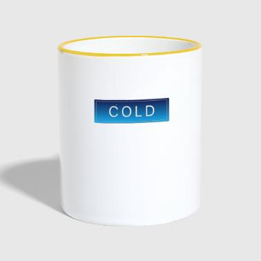 Cold COLD cold winter cold christmas - Contrasting Mug