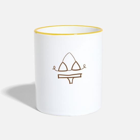 Gift Idea Mugs & Drinkware - bikini - Two-Tone Mug white/yellow