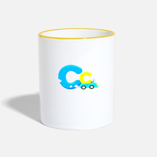 Robes Mugs & Drinkware - kids clothes - Two-Tone Mug white/yellow