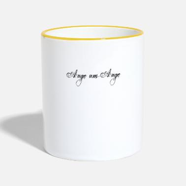 Eye eye to eye - Two-Tone Mug
