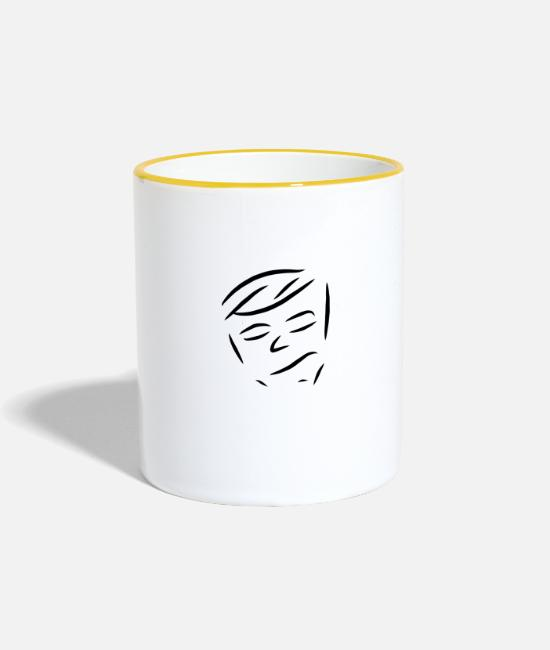 Fashion Mugs & Drinkware - face - Two-Tone Mug white/yellow