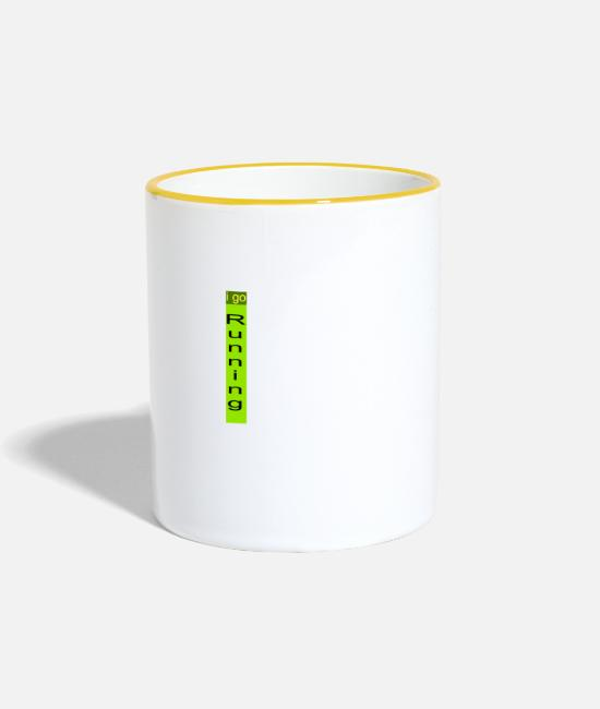 Training Mugs & Drinkware - Running - Two-Tone Mug white/yellow