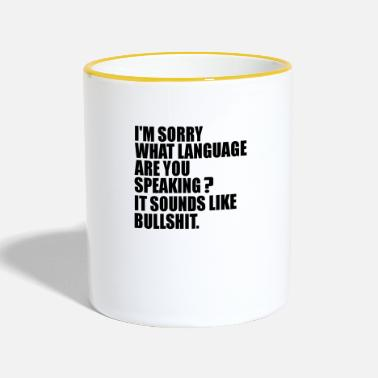 Langue Langage quelle langue - Mug bicolore