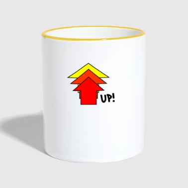 Up Up up steeply up arrow - Contrasting Mug