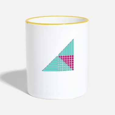 Decoration lines and squares decor decor - Two-Tone Mug