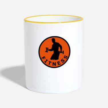 FITNESS is your life - Orange Black - Tasse zweifarbig