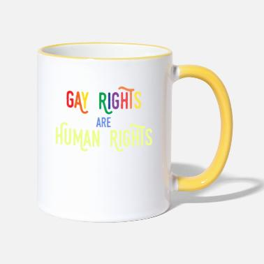 Gay Rights Gay Rights - Gay rights are human rights - Two-Tone Mug