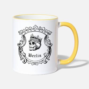 Curlicue Skull with crown from Berlin - Two-Tone Mug