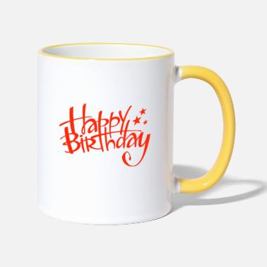 Happy Birthday Happy Birthday - Mug bicolore