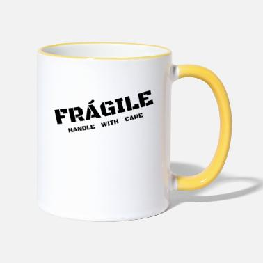 Care fragile - Two-Tone Mug