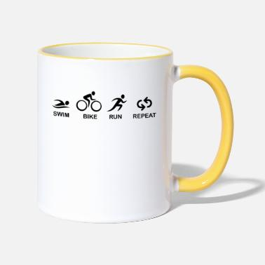 Triathlon TRIATHLON SWIM BIKE RUN - Mug bicolore