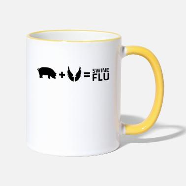 Swine Flu The swine flu - Two-Tone Mug