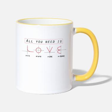 All You Need Is Love Mathematik All you ned is Love - mathematics joke analysis - Tasse zweifarbig