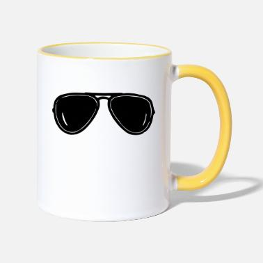 Aviation aviator - Two-Tone Mug