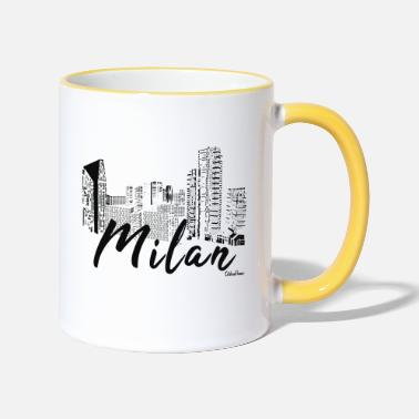 Love Skyline Milano come idea regalo - Tazza bicolor