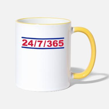 Nerdblur Com 24-7-235 - Twenty Four Seven 365 - Two-Tone Mug