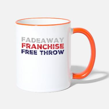 Free Throw Fadeaway Franchise Free Throw - Vintage Basket - Two-Tone Mug