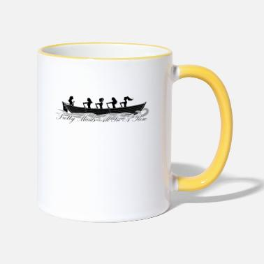 Rowing pretty maids all in a row - Two-Tone Mug