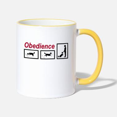 Obedience Obedience - Two-Tone Mug