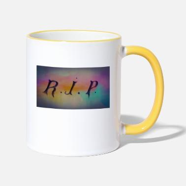 Rest In Peace RIP rest in peace - Two-Tone Mug