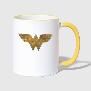 Justice League Wonder Woman Logo Tasse - Tasse zweifarbig
