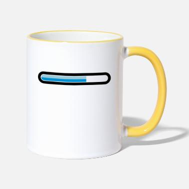 Download downloading - Two-Tone Mug