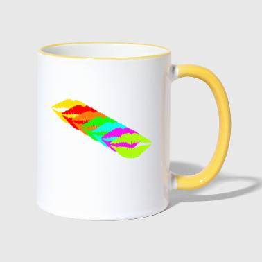 Kissing Lips Lips kiss, lips, mouth, lips - Contrasting Mug