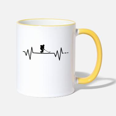 Ice Ice hockey, ice hockey, ice, hockey, puck - Two-Tone Mug