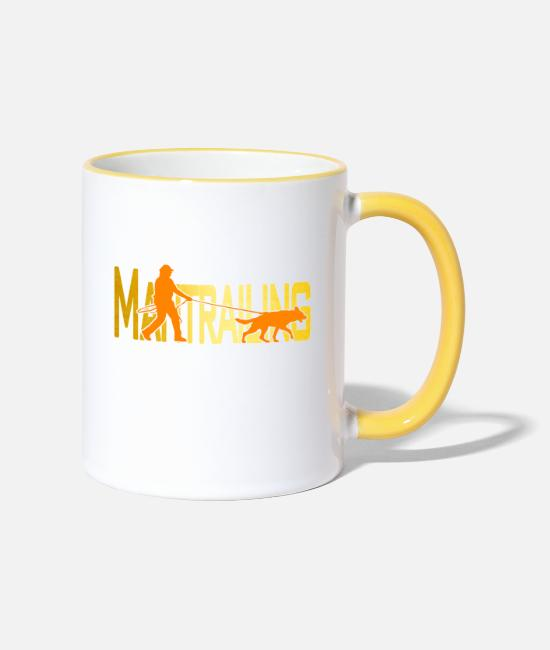Gold Mugs & Drinkware - Mantrailing orange / gold - Two-Tone Mug white/yellow
