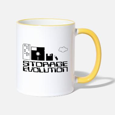 Personal Computers personal computer storage evolution - Two-Tone Mug