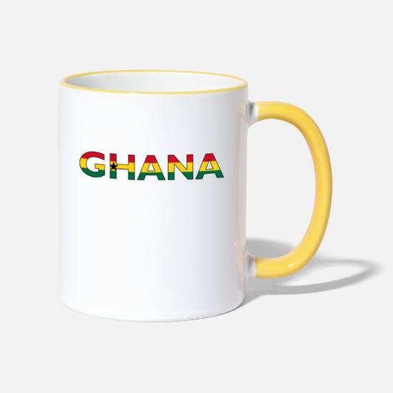 National Team Mugs & Drinkware - Ghana - Two-Tone Mug white/yellow