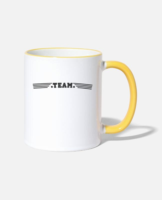 Star Mugs & Drinkware - team - Two-Tone Mug white/yellow