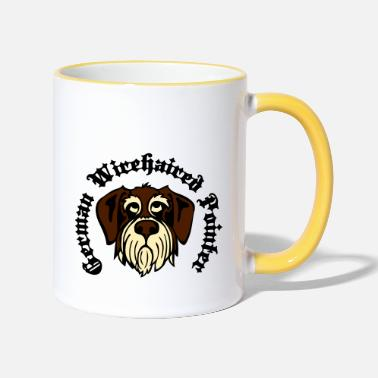 Gwp wirehaired_pointer_face_3c - Two-Tone Mug