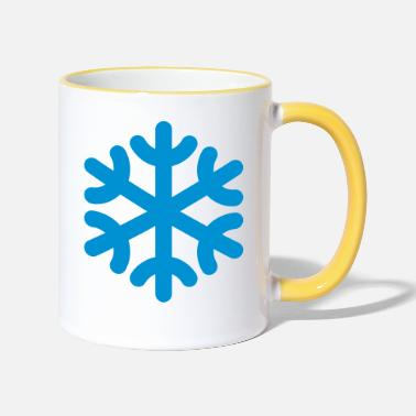 Flocon De Neige Flocon de neige / flocon de neige - Mug bicolore