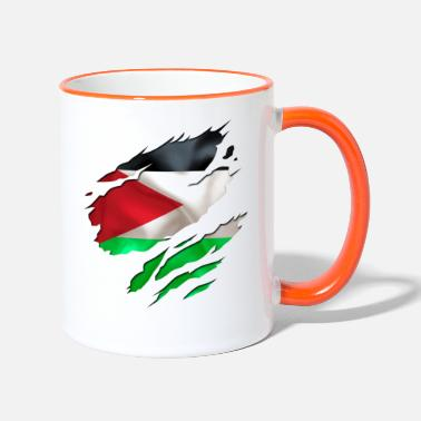 Designs Guinea Visit Wear Logo Nation With African cool israel palestine - Two-Tone Mug