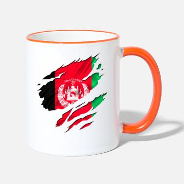 Country Flag Football Sport And Arab Art Jesus afghanistan army peace - Two-Tone Mug