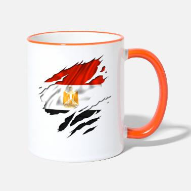Designs Guinea Visit Wear Logo Nation With African egypt egyptian egyption - Two-Tone Mug