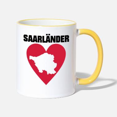 Saarland I love the Saarland Saarland, Saarland am - Two-Tone Mug